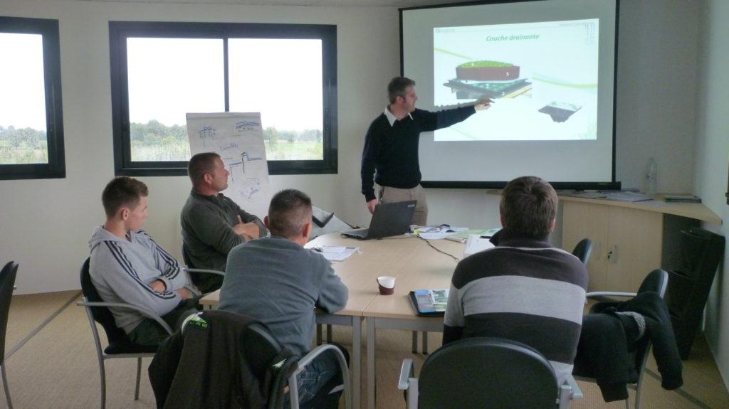 Formation toiture végétale étanchéité EPDM Amaeva Rennes Angers