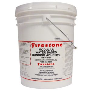 modular water based bonding adhesive colle firestone