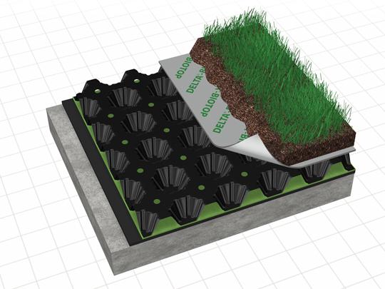 nappe drainante reservoir eau toiture végétalisée Amaeva distribution