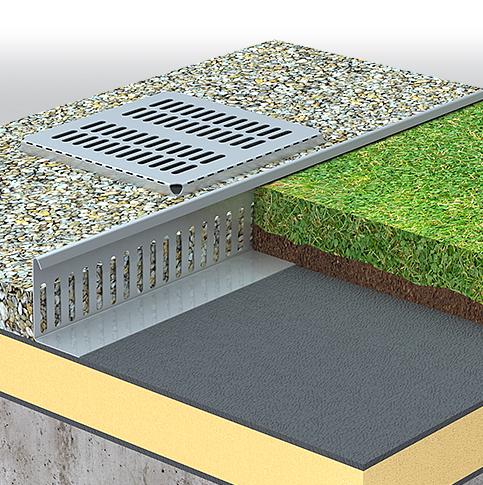 profil aluminium toiture végétale pare gravier Origal Amaéva distribution